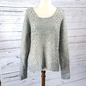 Aeropostale Grey Pullover Hi-lo Sweater Loose Fit